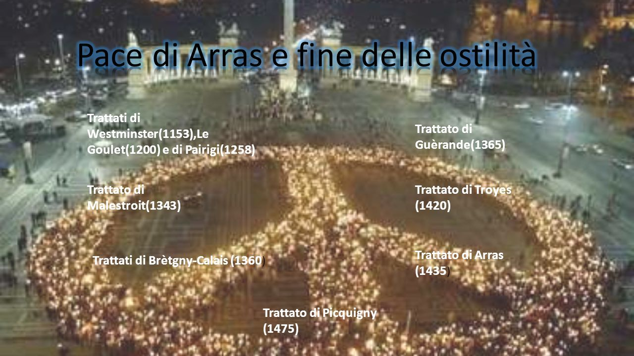 Trattati di Westminster(1153),Le Goulet(1200) e di Pairigi(1258) Trattato di Malestroit(1343) Trattati di Brètgny-Calais (1360 ) Trattato di Guèrande(