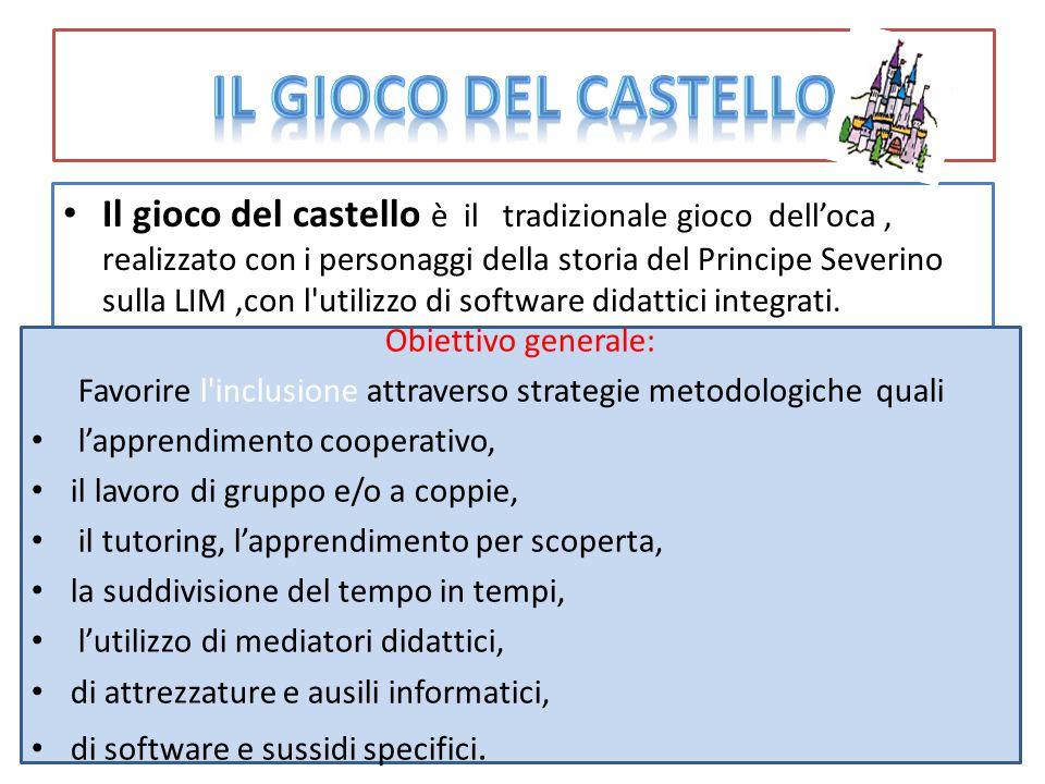 Il gioco del castello è il tradizionale gioco dell'oca, realizzato con i personaggi della storia del Principe Severino sulla LIM,con l'utilizzo di sof