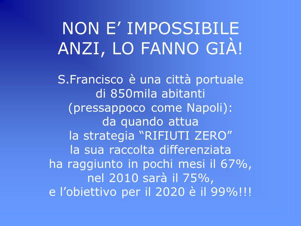 """NON E' IMPOSSIBILE ANZI, LO FANNO GIÀ! S.Francisco è una città portuale di 850mila abitanti (pressappoco come Napoli): da quando attua la strategia """"R"""