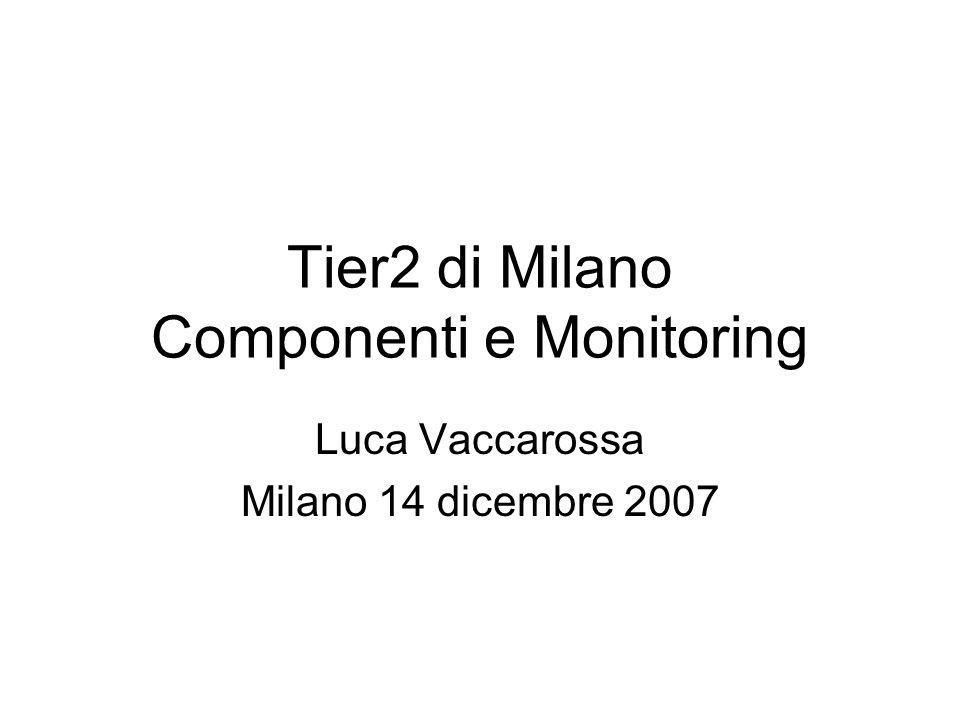 Tier2 di Milano Componenti e Monitoring Luca Vaccarossa Milano 14 dicembre 2007
