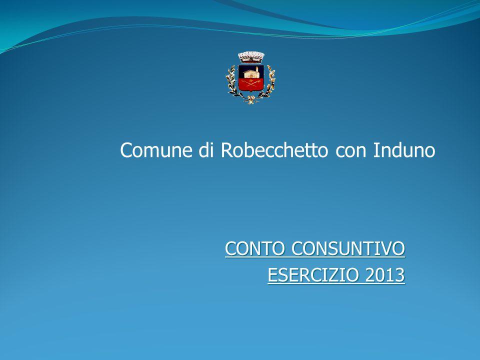 CONTO CONSUNTIVO ESERCIZIO 2013 Comune di Robecchetto con Induno