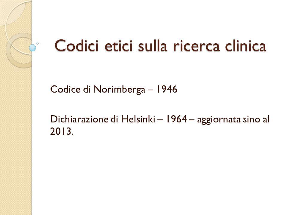 Inquadramento del problema La ricerca clinica sui soggetti fragili è scarsamente sviluppata per diverse ragioni.