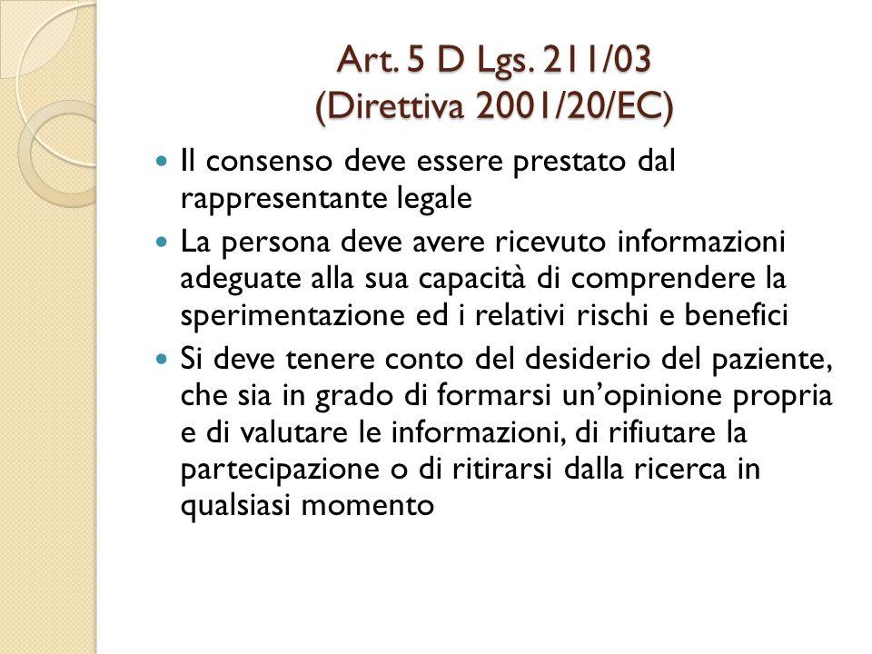 Art.5 D Lgs.