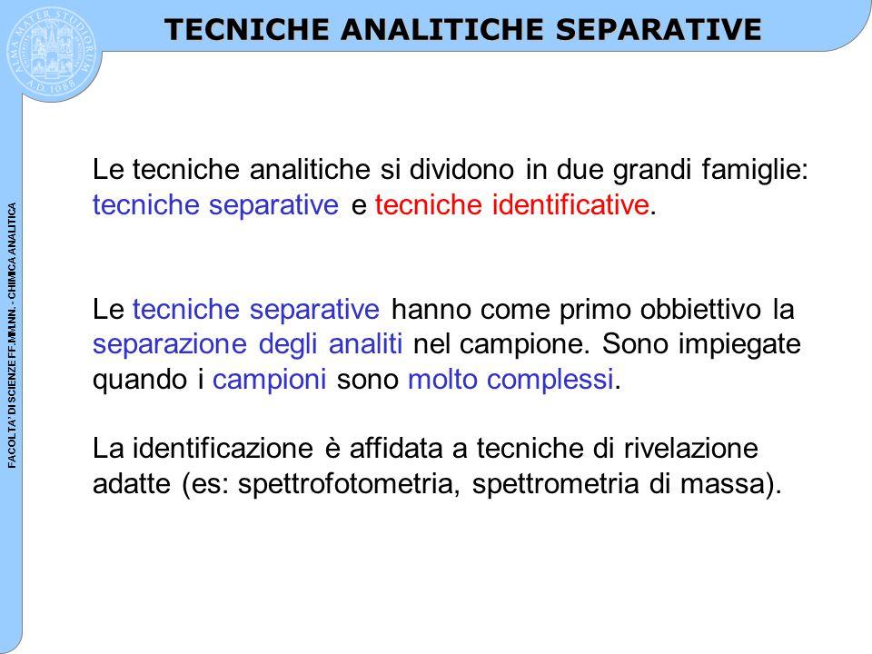 FACOLTA' DI SCIENZE FF.MM.NN. - CHIMICA ANALITICA GAS CROMATOGRAFIA (GC)