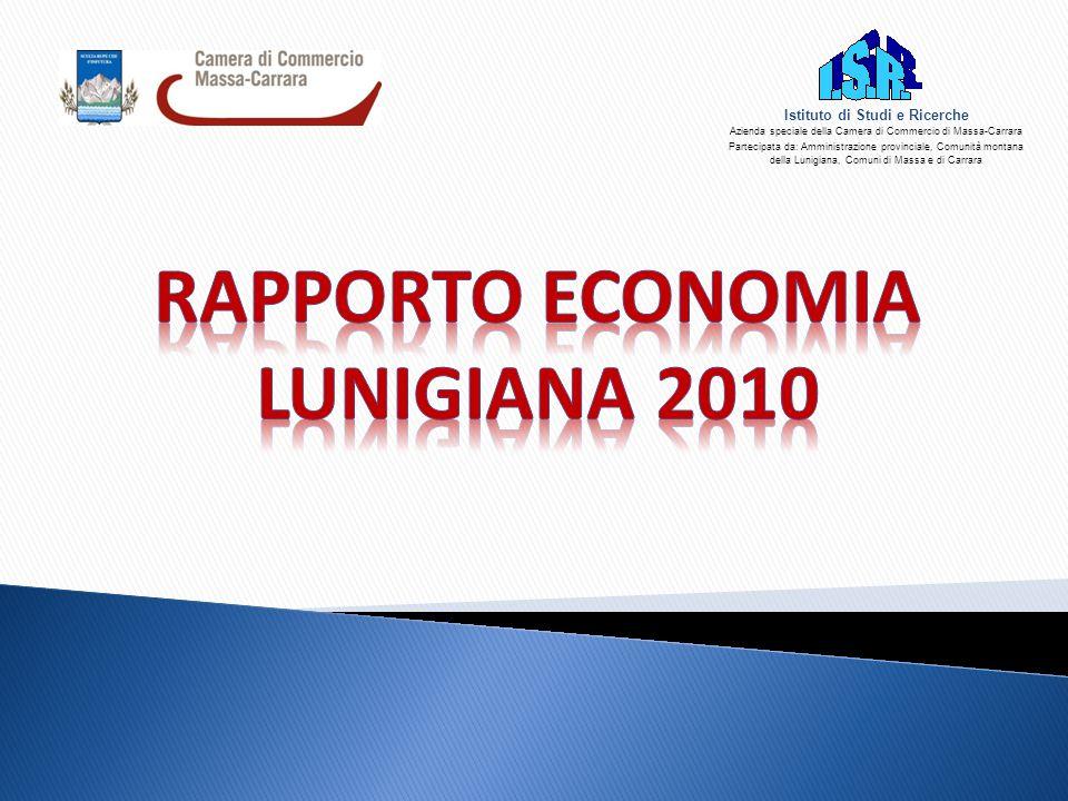 42 CREDITO  In Lunigiana è storicamente basso il rapporto impieghi- depositi (sotto la soglia di 100) e per giunta nel 2009 si è ridotto ulteriormente: su 100 euro di depositi locali, le banche hanno investito sul territorio 86 euro (92 euro nel 2008), contro i 156 euro medi della provincia.