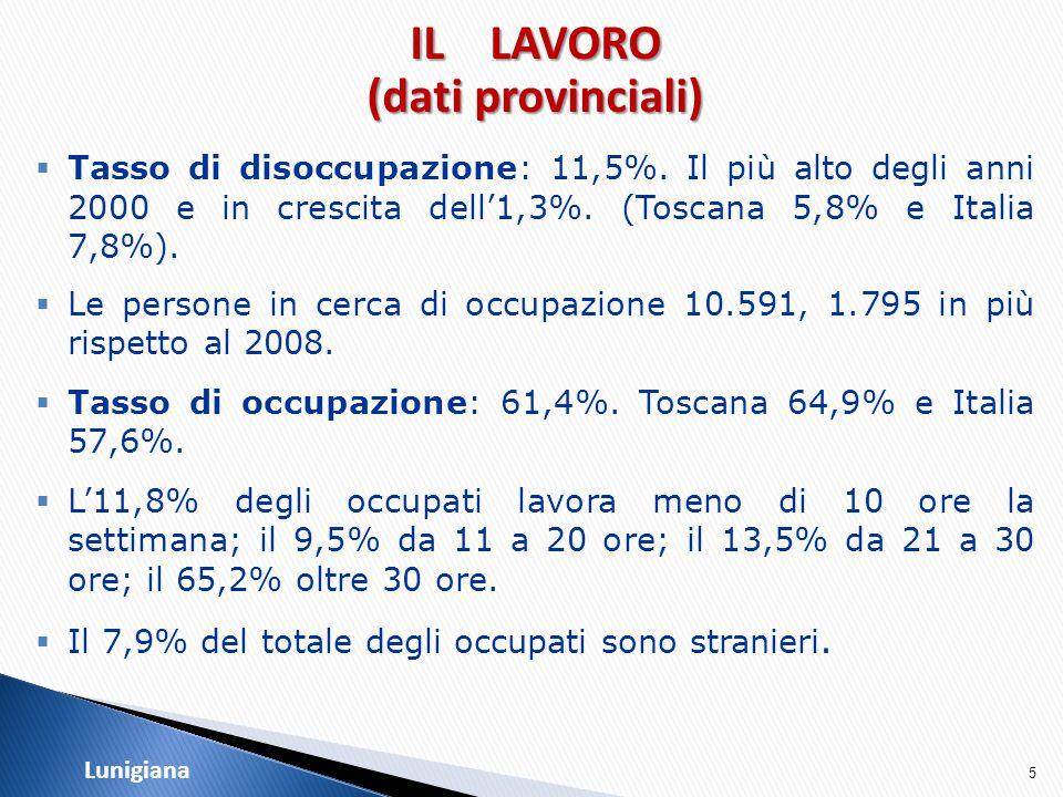 36 LunigianaTURISMO  La Lunigiana presenta un numero di strutture ricettive pari a quello di Massa e Montignoso, ma non ha parimenti la stessa capacità in termini di posti letto (è solo pari al 14% di quella provinciale).