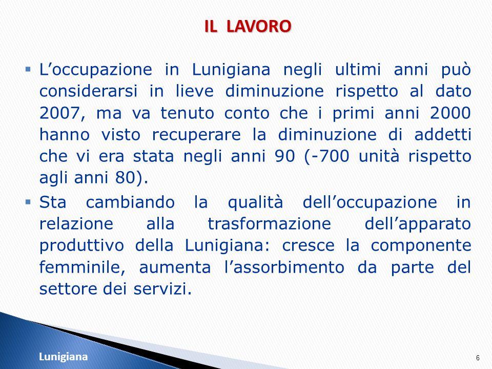 17 LA DINAMICA DELLE IMPRESE  Al 31-12-2009 sono 5.375 le imprese in Lunigiana, di cui 4.831 attive, e rappresentano il 24,4% del totale provinciale.