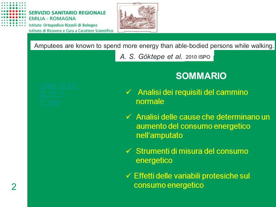 2 Video 18-05- 12 15 11 17.mov SOMMARIO Analisi dei requisiti del cammino normale Analisi delle cause che determinano un aumento del consumo energetic