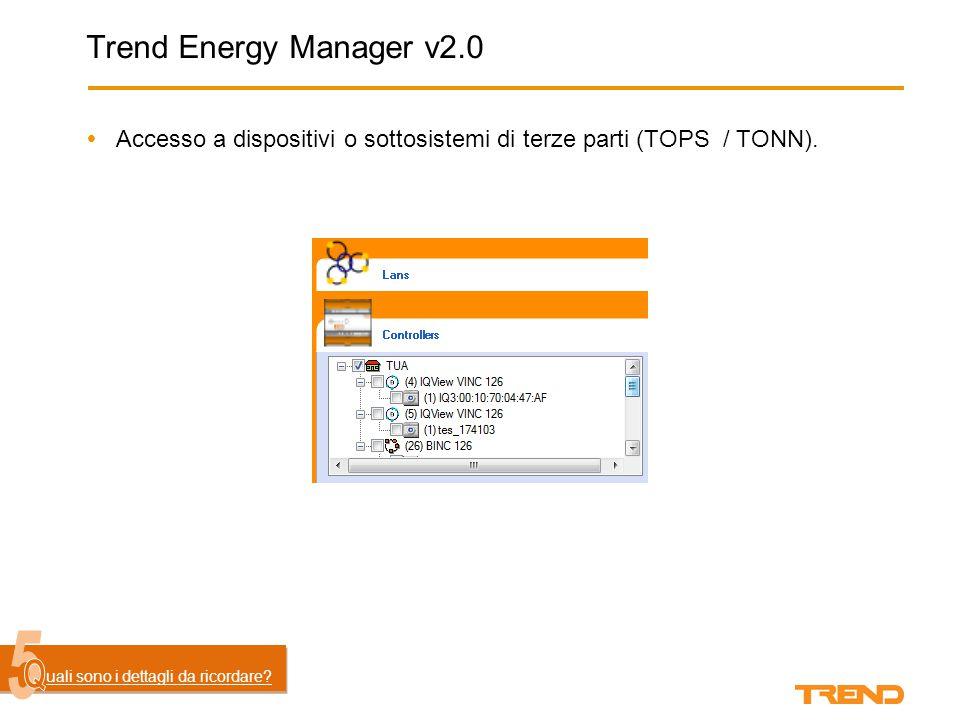 Trend Energy Manager v2.0  Accesso a dispositivi o sottosistemi di terze parti (TOPS / TONN).