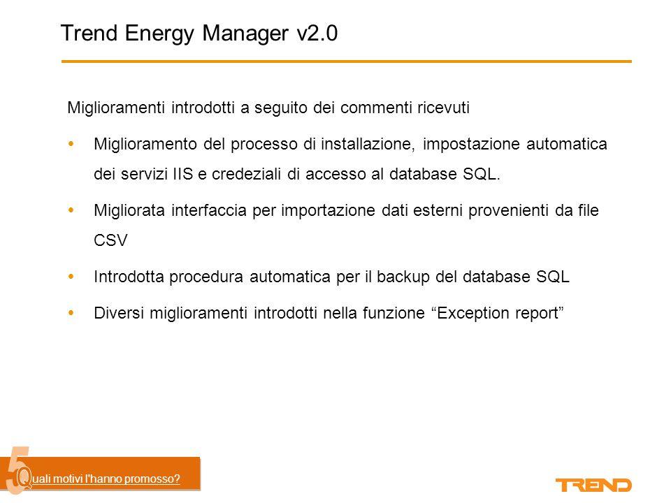 Trend Energy Manager v2.0  Supporto HTML5 (iPad, iPhone) uali motivi l'hanno generato.