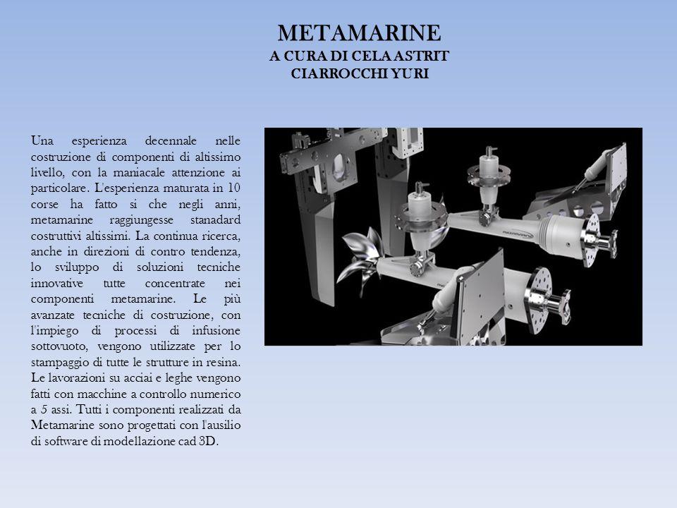 METAMARINE A CURA DI CELA ASTRIT CIARROCCHI YURI Una esperienza decennale nelle costruzione di componenti di altissimo livello, con la maniacale attenzione ai particolare.
