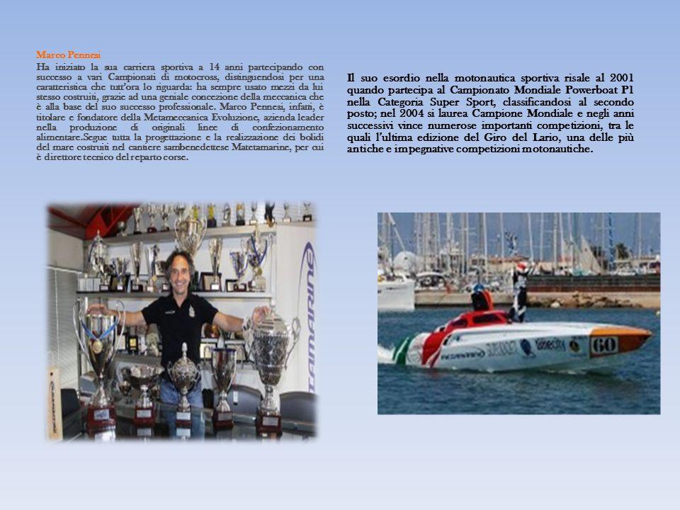 Marco Pennesi Ha iniziato la sua carriera sportiva a 14 anni partecipando con successo a vari Campionati di motocross, distinguendosi per una caratteristica che tutt'ora lo riguarda: ha sempre usato mezzi da lui stesso costruiti, grazie ad una geniale concezione della meccanica che è alla base del suo successo professionale.