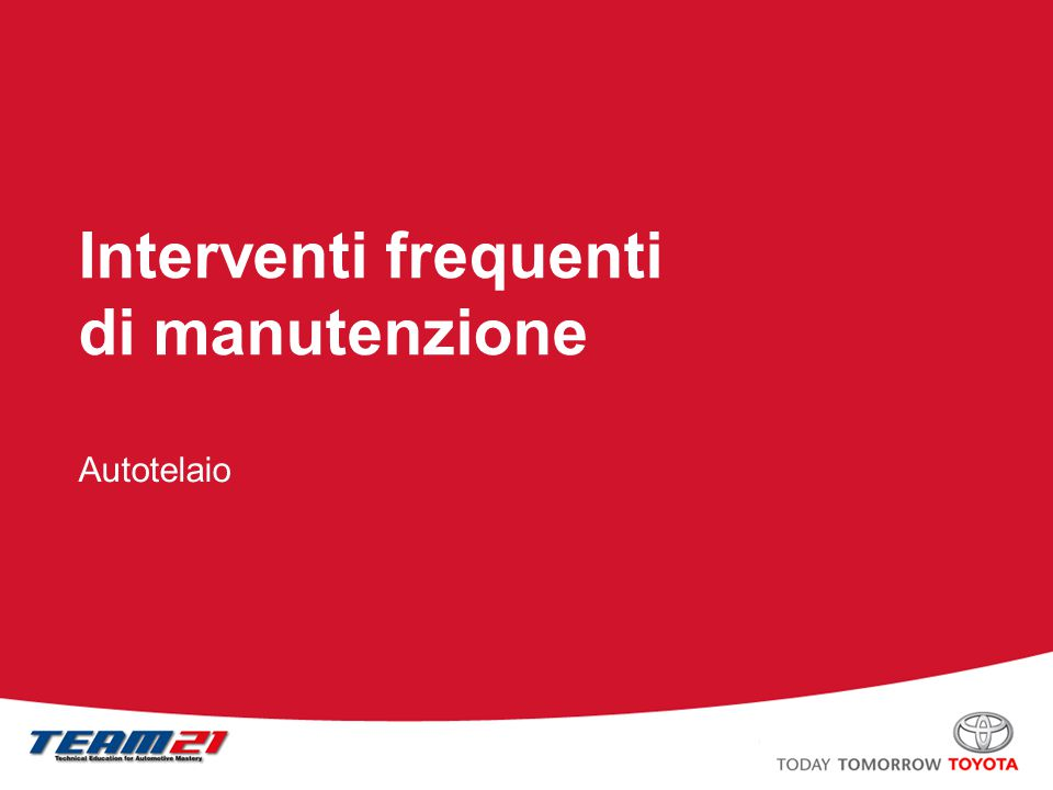 Toyota Motor Italia – A/S Training Scatola sterzo Applicazione fascetta a vite