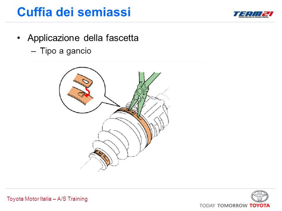 Toyota Motor Italia – A/S Training Cuffia dei semiassi Applicazione della fascetta –Tipo a gancio
