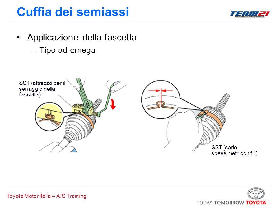 Toyota Motor Italia – A/S Training Cuffia dei semiassi Applicazione della fascetta –Tipo ad omega SST (attrezzo per il serraggio della fascetta) SST (