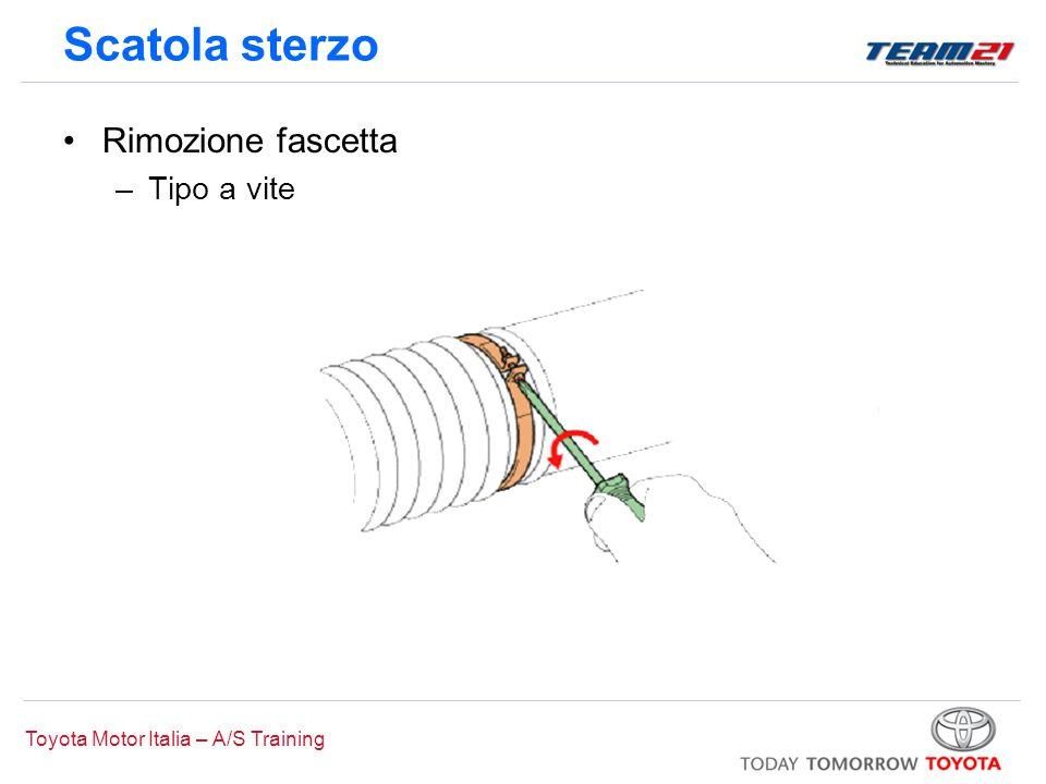 Toyota Motor Italia – A/S Training Scatola sterzo Rimozione fascetta –Tipo a vite