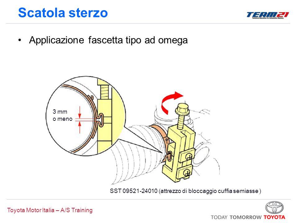 Toyota Motor Italia – A/S Training Scatola sterzo Applicazione fascetta tipo ad omega 3 mm o meno SST 09521-24010 (attrezzo di bloccaggio cuffia semia
