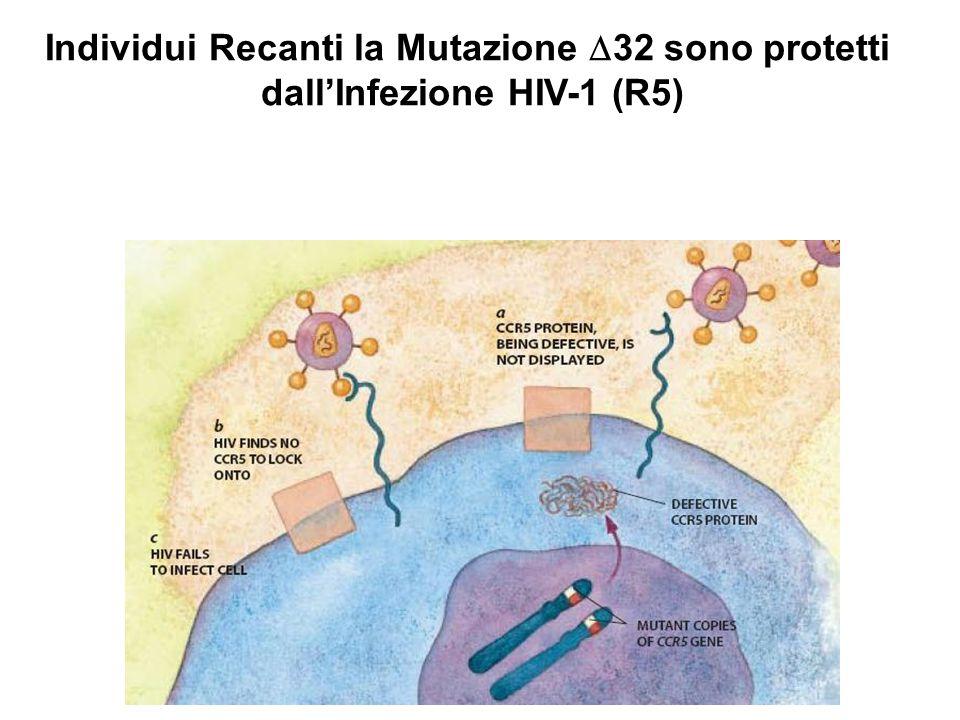 Individui Recanti la Mutazione  32 sono protetti dall'Infezione HIV-1 (R5)