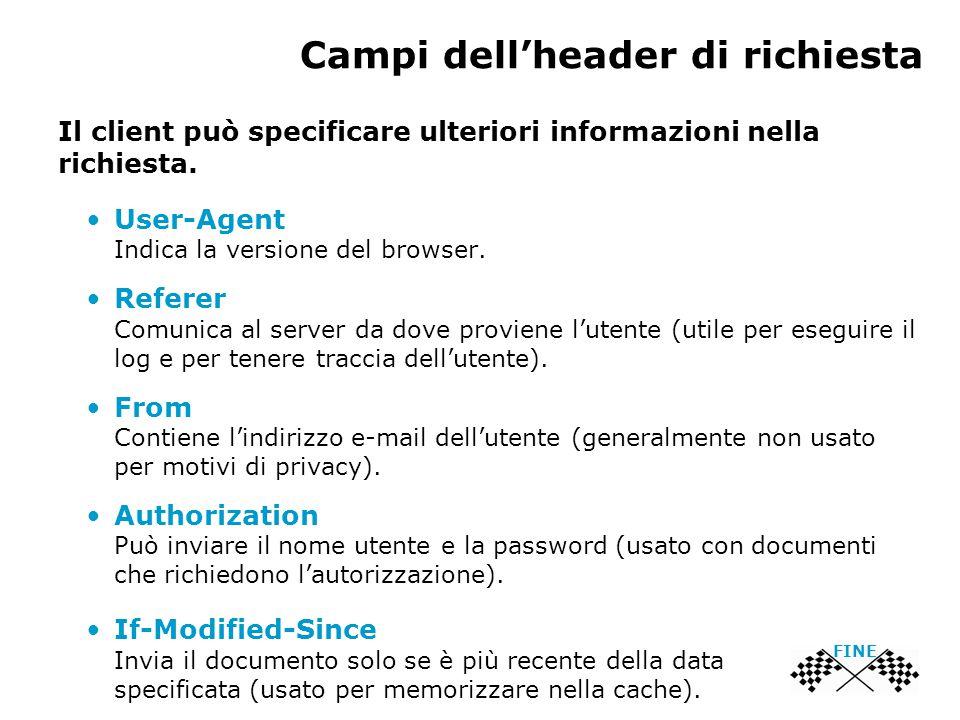 Campi dell'header di richiesta FINE Il client può specificare ulteriori informazioni nella richiesta.