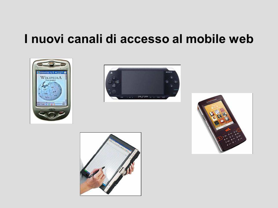 I nuovi canali di accesso al mobile web