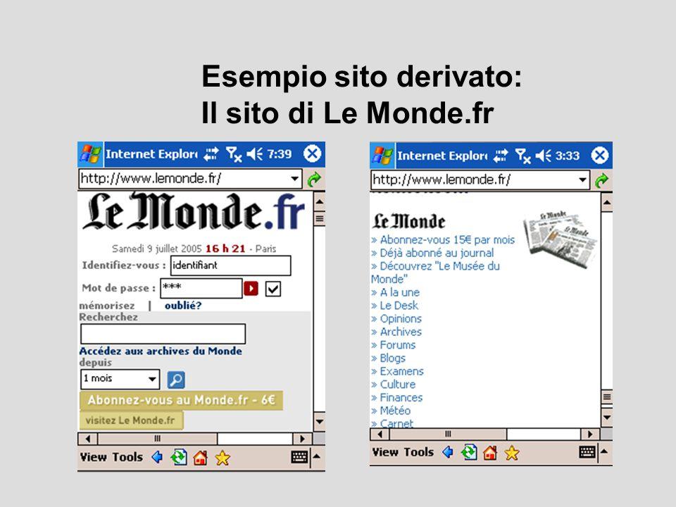 Esempio sito derivato: Il sito di Le Monde.fr