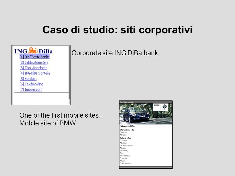 Caso di studio: siti di società Mobile society site.