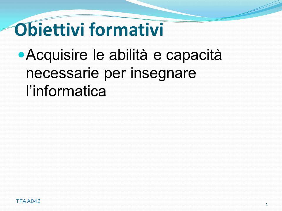 TFA A042 Fondamenti Introduzione agli Algoritmi (Bonizzoni) - L'informatica, teoria e pratica.