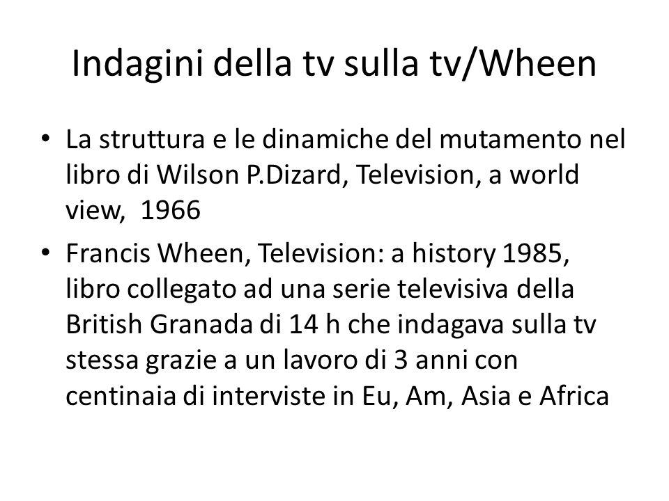 Indagini della tv sulla tv/Wheen La struttura e le dinamiche del mutamento nel libro di Wilson P.Dizard, Television, a world view, 1966 Francis Wheen,