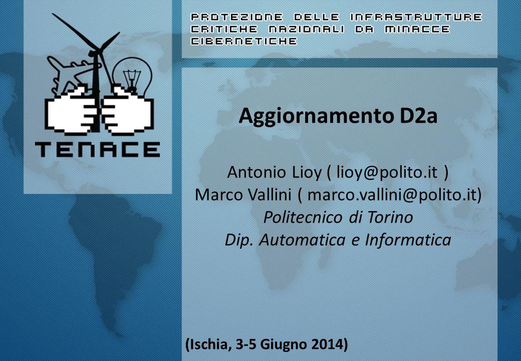 Aggiornamento D2a Antonio Lioy ( lioy@polito.it ) Marco Vallini ( marco.vallini@polito.it) Politecnico di Torino Dip.