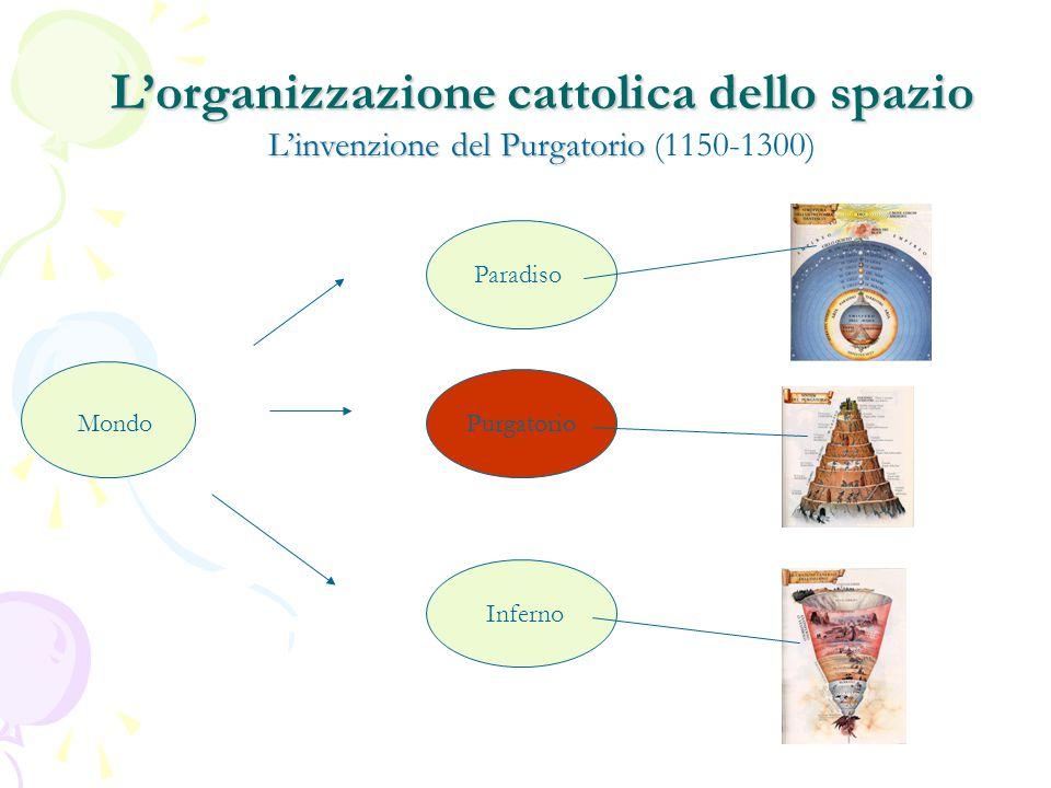 Mondo Paradiso Purgatorio Inferno L'organizzazione cattolica dello spazio L'invenzione del Purgatorio L'organizzazione cattolica dello spazio L'invenzione del Purgatorio (1150-1300)