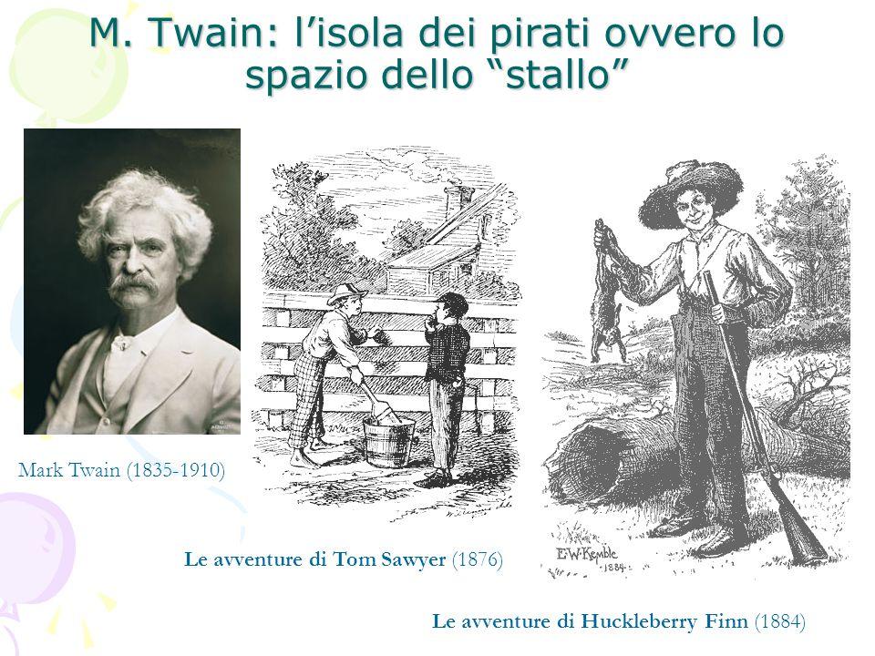 """M. Twain: l'isola dei pirati ovvero lo spazio dello """"stallo"""" Le avventure di Huckleberry Finn (1884) Le avventure di Tom Sawyer (1876) Mark Twain (183"""