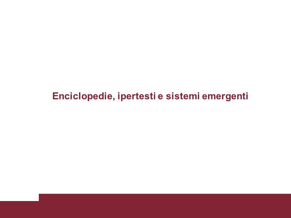 Enciclopedie, ipertesti e sistemi emergenti