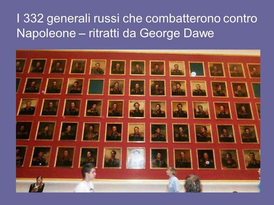 I 332 generali russi che combatterono contro Napoleone – ritratti da George Dawe