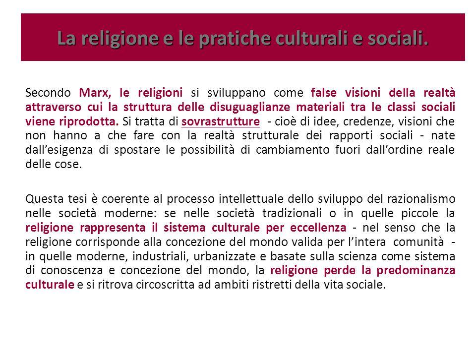 Secondo Marx, le religioni si sviluppano come false visioni della realtà attraverso cui la struttura delle disuguaglianze materiali tra le classi soci
