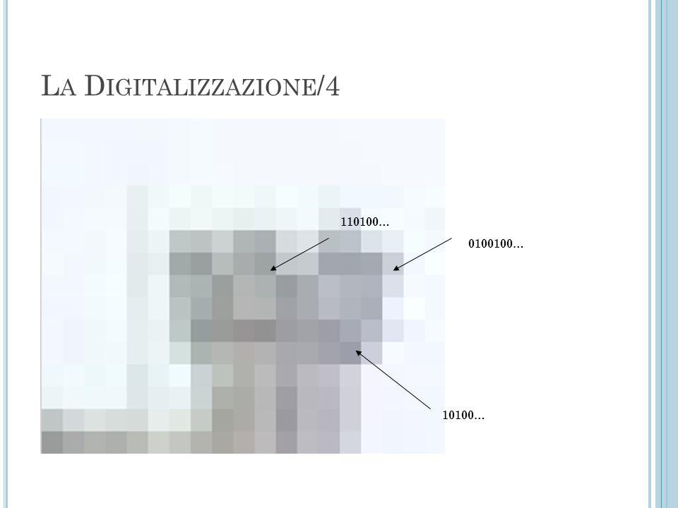 L A D IGITALIZZAZIONE /4 110100… 0100100… 10100…