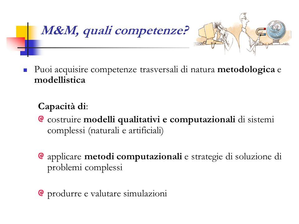 M&M, quali competenze.