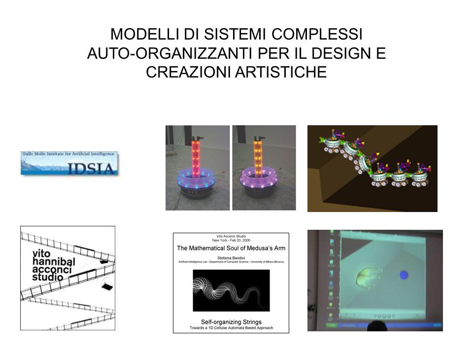 MODELLI DI SISTEMI COMPLESSI AUTO-ORGANIZZANTI PER IL DESIGN E CREAZIONI ARTISTICHE