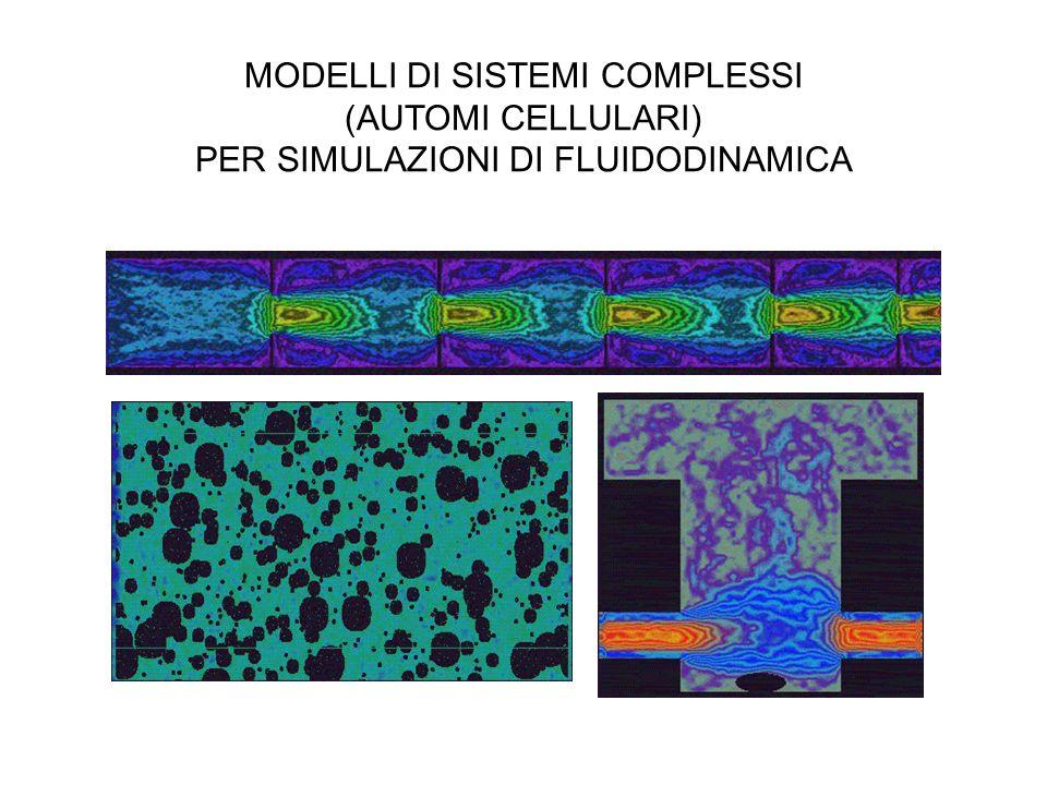 MODELLI DI SISTEMI COMPLESSI (AUTOMI CELLULARI) PER SIMULAZIONI DI FLUIDODINAMICA