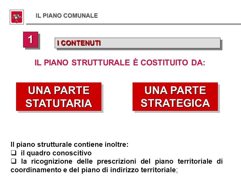 I CONTENUTI 11 11 UNA PARTE STATUTARIA UNA PARTE STRATEGICA Il piano strutturale contiene inoltre:  il quadro conoscitivo  la ricognizione delle pre