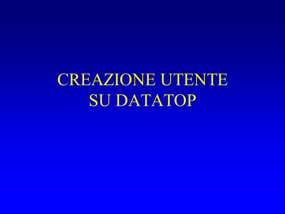 CREAZIONE UTENTE Andate su //datatop.di.unipi.it/webdb Login come utente: webdb password: ****** Administer -> User Manager Riempire i campi User name e Password della form Create a New User, in particolare: Deafult Tablespace: USERS Temporary Tablespace: TEMP ORACLE Profile: DEFAULT Selezionare la check box WebDB Developer Premere Create