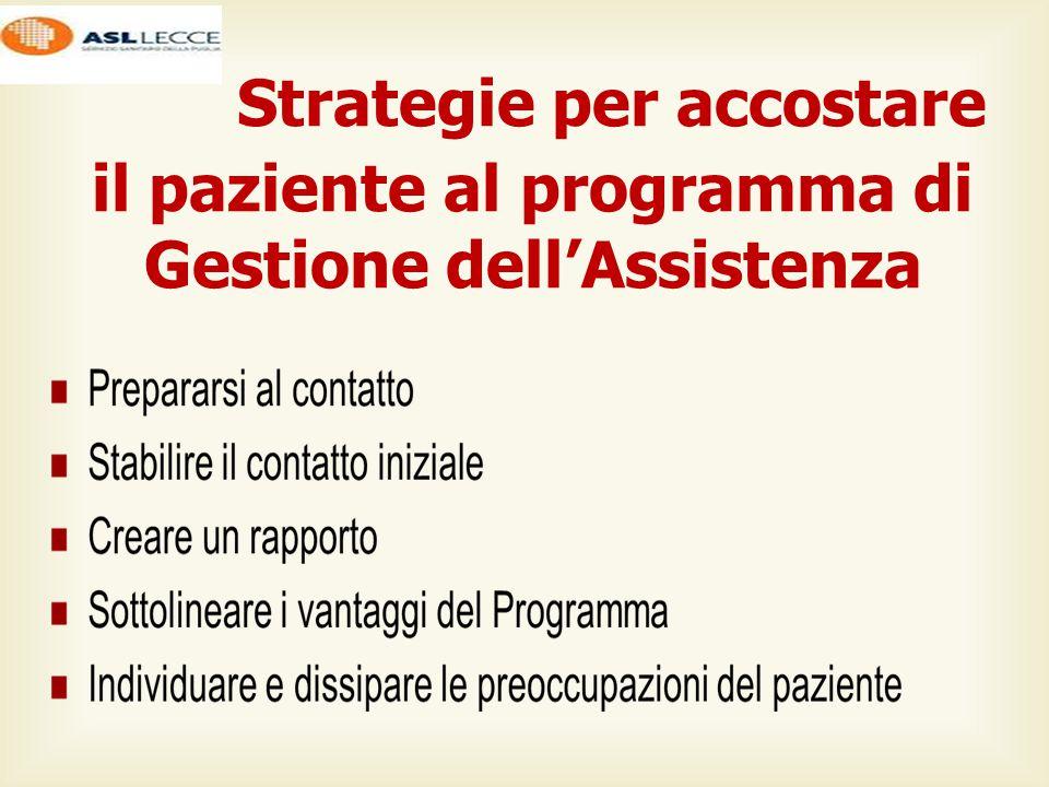 Strategie per accostare il paziente al programma di Gestione dell'Assistenza