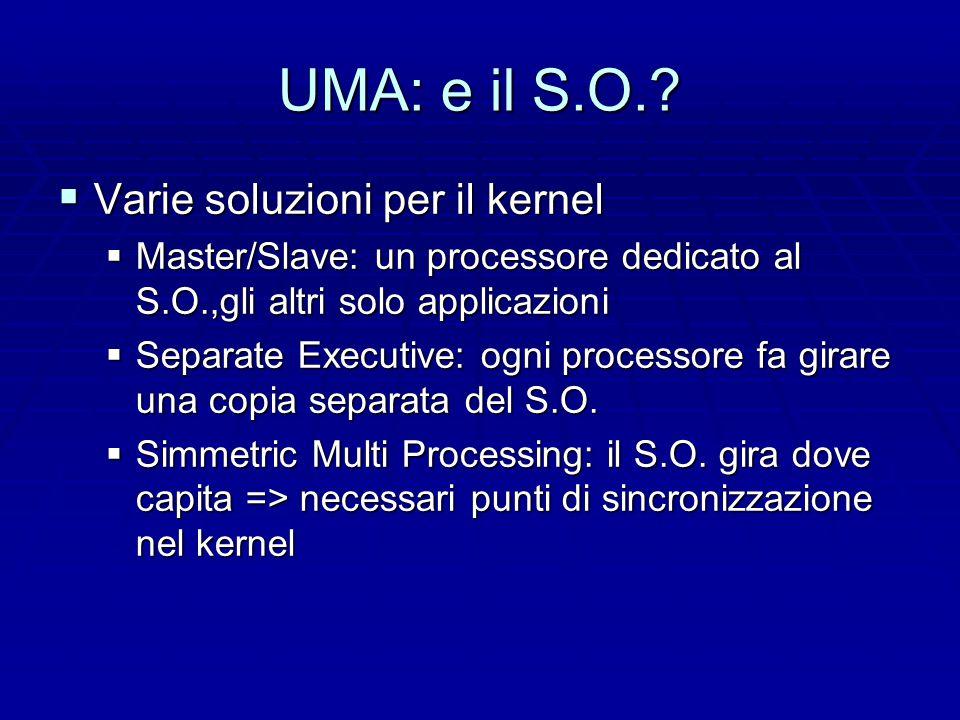 UMA: e il S.O..