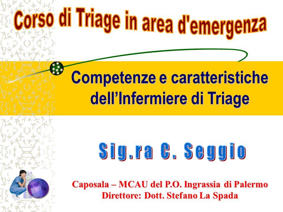 Competenze e caratteristiche dell'Infermiere di Triage Caposala – MCAU del P.O.