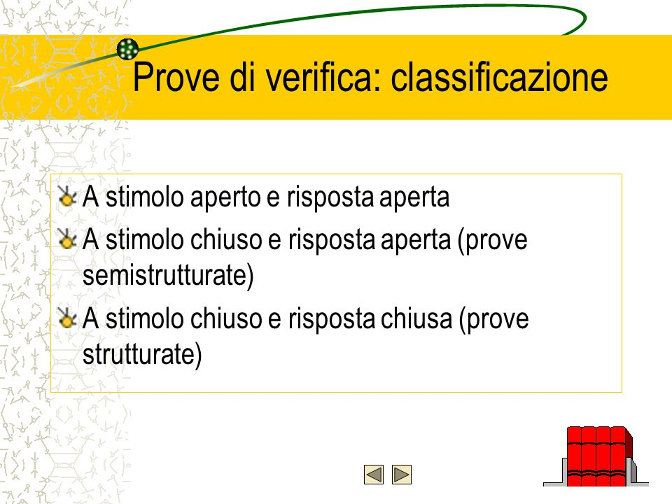 Verifica e valutazione Valutazione diagnostica Valutazione formativa Valutazione sommativa Valutazione dell'efficacia dell'intervento educativo La valutazione come elemento comune a tutti i momenti della programmazione