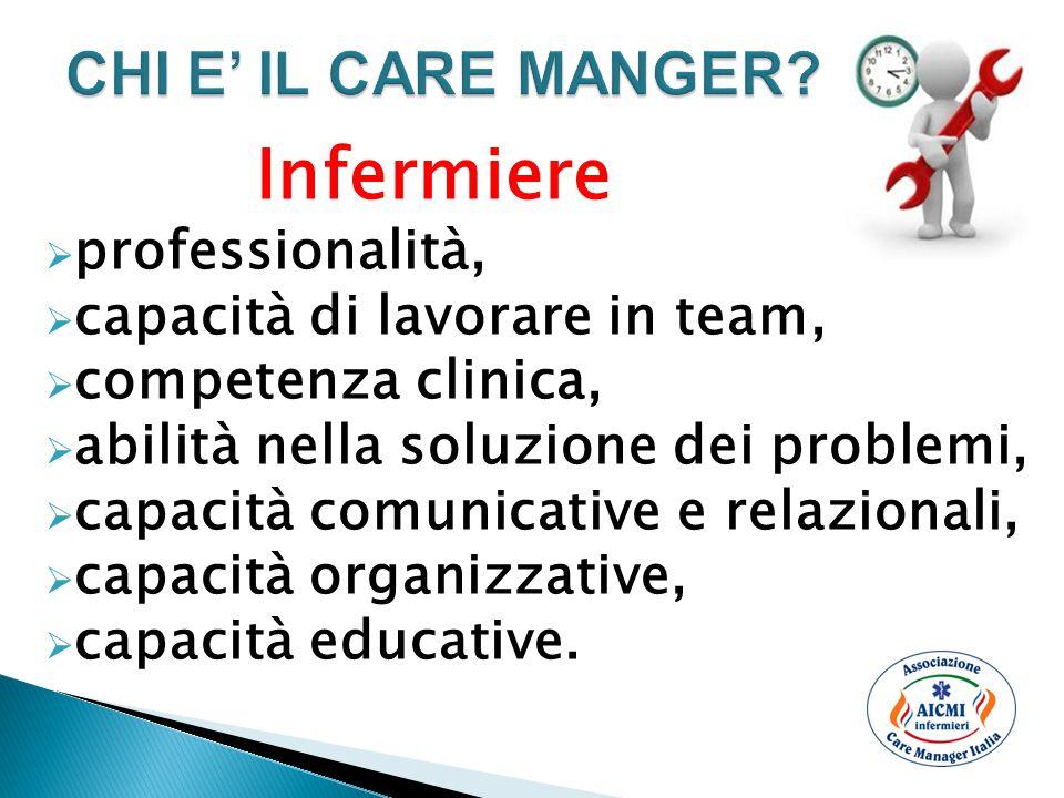 Infermiere  professionalità,  capacità di lavorare in team,  competenza clinica,  abilità nella soluzione dei problemi,  capacità comunicative e