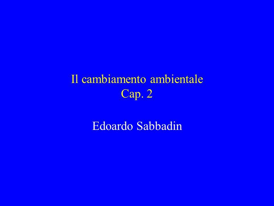 Il cambiamento ambientale Cap. 2 Edoardo Sabbadin