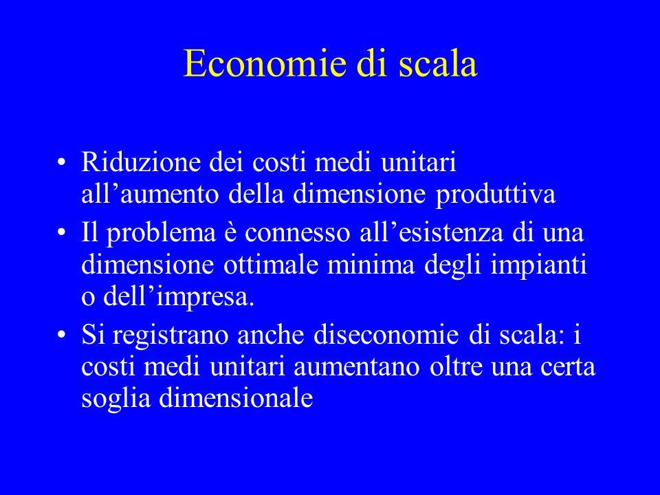 Barriere all'entrata 1.Economie di scala 2.Ostacoli legali 3.Differenziazione del prodotto 4.Vantaggi assoluti di costo 5.Elevato fabbisogno iniziale