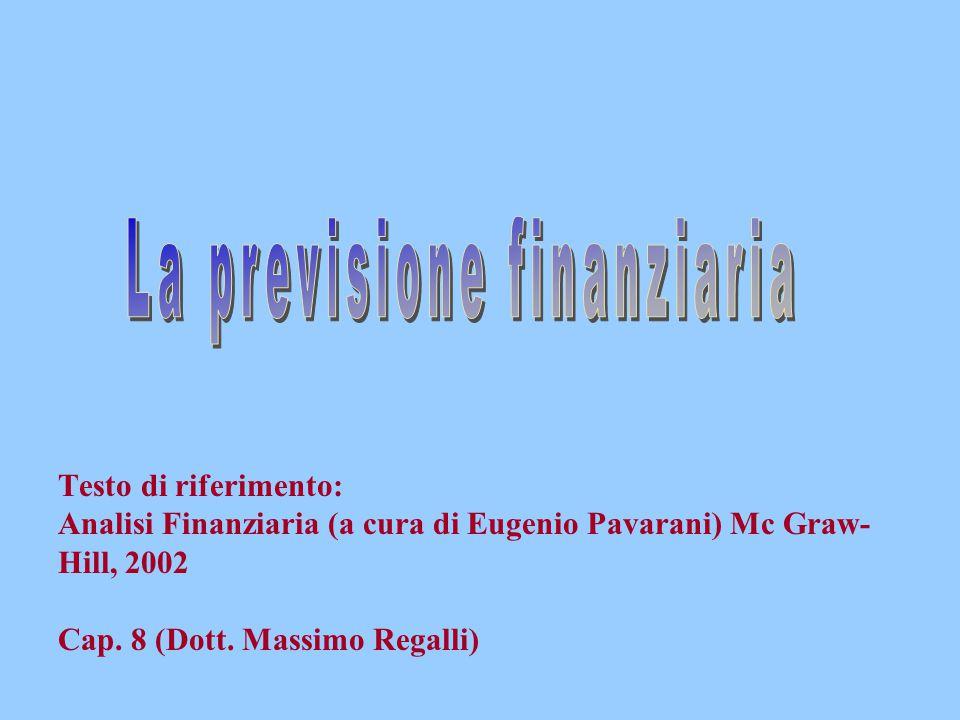 Testo di riferimento: Analisi Finanziaria (a cura di Eugenio Pavarani) Mc Graw- Hill, 2002 Cap. 8 (Dott. Massimo Regalli)