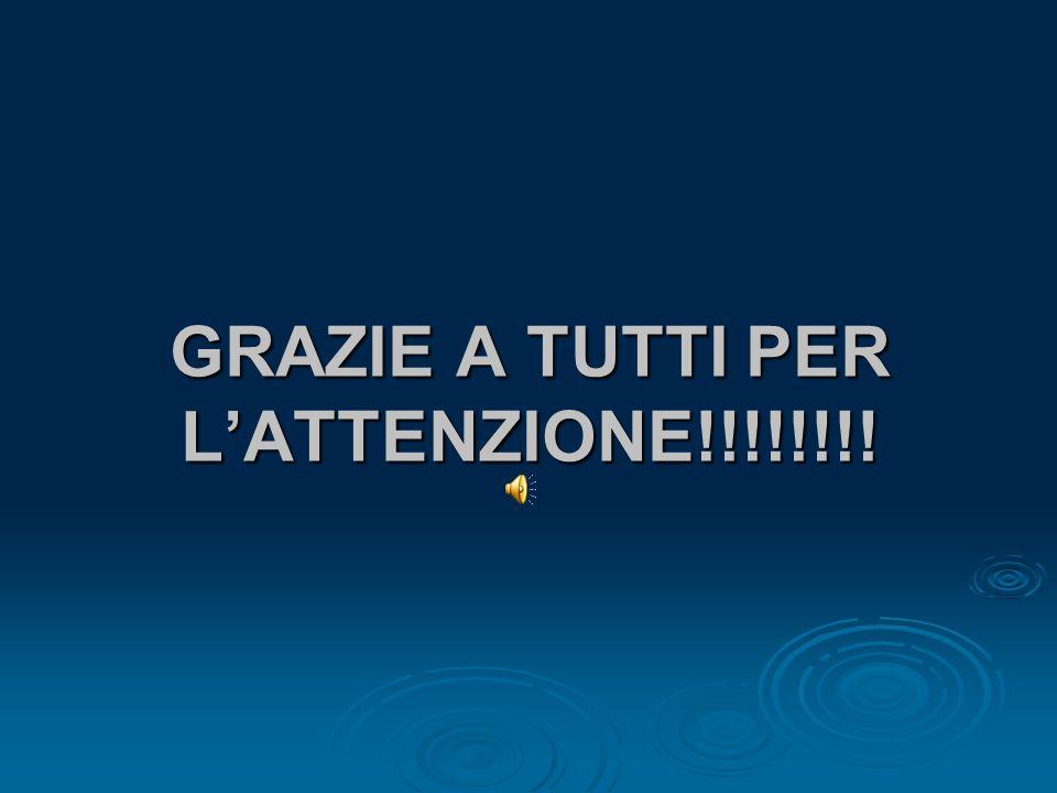 GRAZIE A TUTTI PER L'ATTENZIONE!!!!!!!!