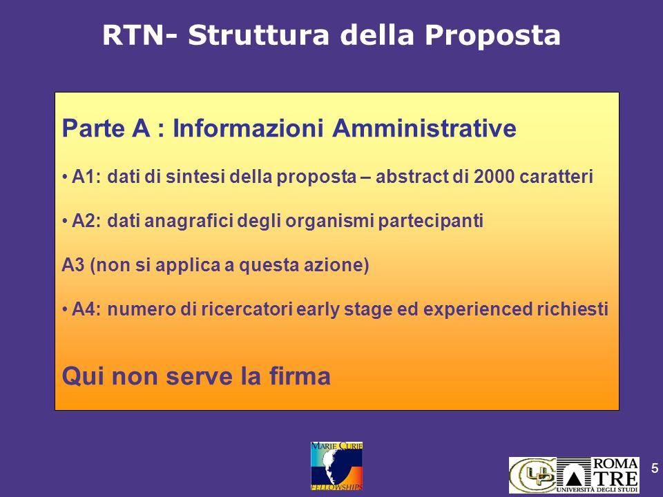 5 Parte A : Informazioni Amministrative A1: dati di sintesi della proposta – abstract di 2000 caratteri A2: dati anagrafici degli organismi partecipan